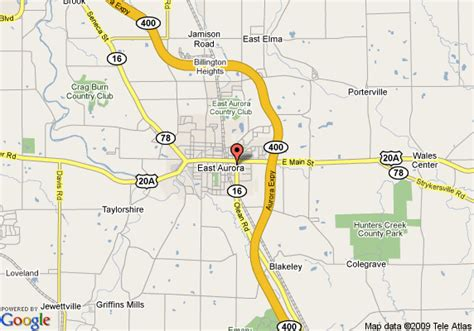 map of hton inn east aurora ny east aurora