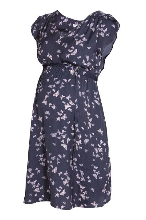 Blue Butterfly Shirt Dress Size S M L ruffled sleeve dress blue butterflies sale h m us