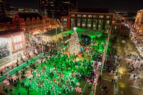 fort worth tree lighting sundance square your favorite downtown in texas