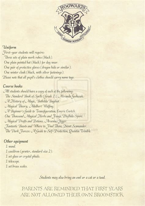 Personal Acceptance Letter From Hogwarts Hogwarts Acceptance Letter 2 2 Option 2 By Desiredwings On Deviantart