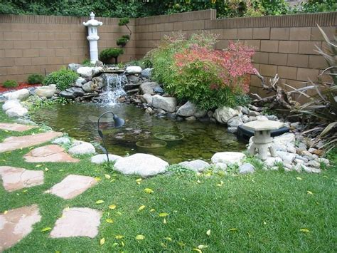 Pond Decor by Beautiful Small Pond For Minimalist Garden Decoration 4