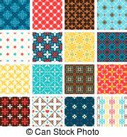 basic pattern in spanish seamless spanish tiles old fashioned tile vector in blue