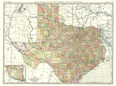 rand mcnally map of texas texas geographicus antique maps