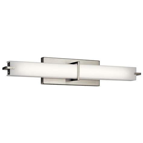 Vertical Bathroom Lights Kichler Lighting Brushed Nickel Led Vertical Bathroom Light 11146niled Destination Lighting
