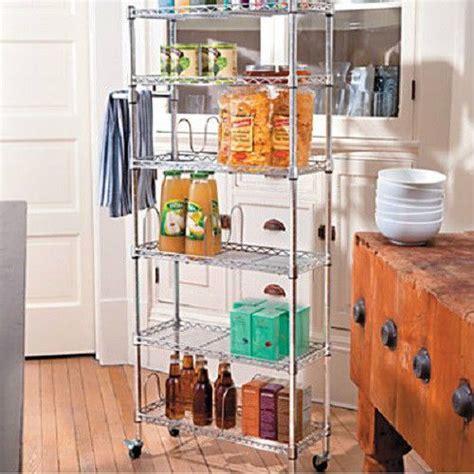 Kitchen Portable Pantry by 6 Shelf Portable Rolling Kitchen Pantry Shelf Rack Cart