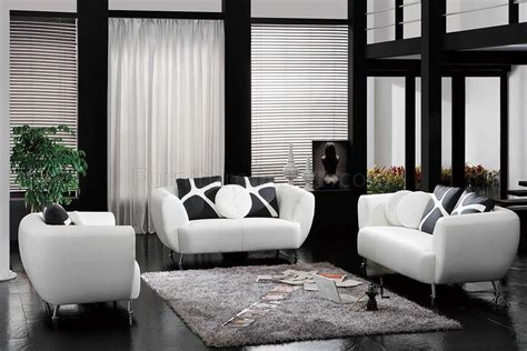 white leather sectional sofa with pillow for small living room with black carpet tiles ideas white bonded leather modern 3pc sofa set w accent pillows