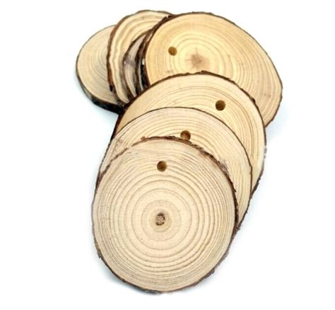 10pcs 6 9cmcm Wood Log Slices Discs Cutout Circle Round
