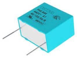 kemet x1 capacitor phe844rr7100mr06l2 kemet capacitor 1 181 f x1 phe844 series 480 v pp polypropylene