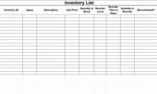 sheet templates free printable inventory sheets inventory spreadsheet