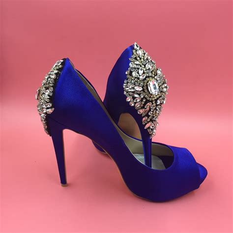 Satin Pumps Wedding by Aliexpress Buy Royal Blue Satin Wedding Shoes