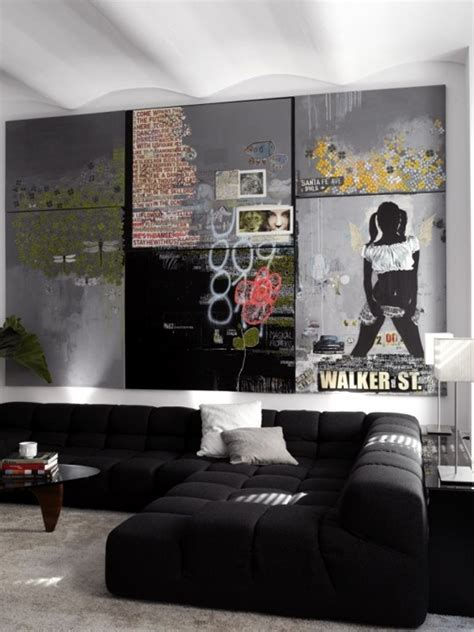 cool wall for living room cool graffiti living room designs