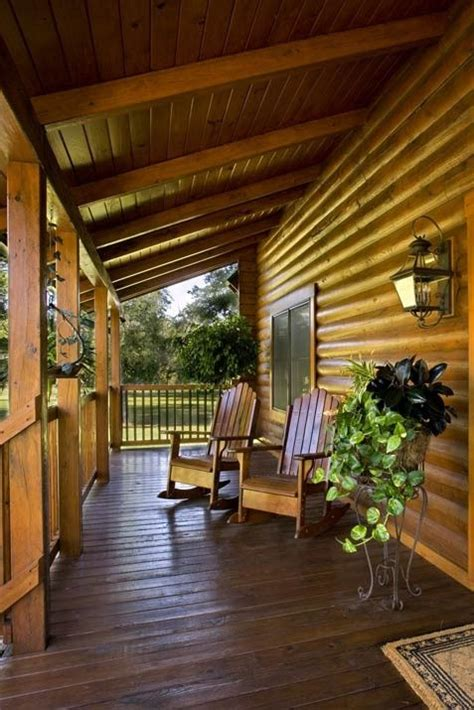 log cabin with wrap around porch exterior home designs pin by brentandcecily huddleston on dream home pinterest