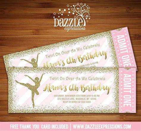 printable dance tickets 156 best ballerina images on pinterest invitations