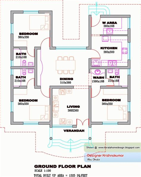 kerala home design with free floor plan house plan download 2 bedroom kerala house plans free