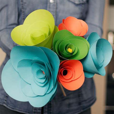 How To Make Artificial Flowers With Paper - diy how to make paper flowers all put together