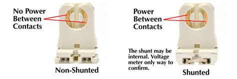 shunted vs non shunted l holders internal driver led t8s require non shunted sockets