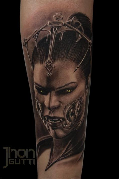 mileena mortal kombat x by jhon gutti tattoonow