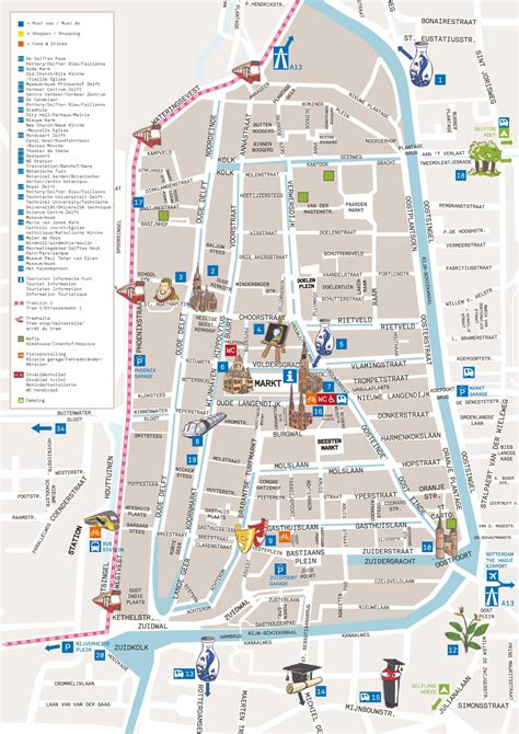 netherlands map delft delft city center map