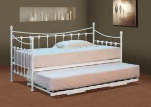 Traditional Bedroom Furniture stunning white metal day bed with or without trundle and
