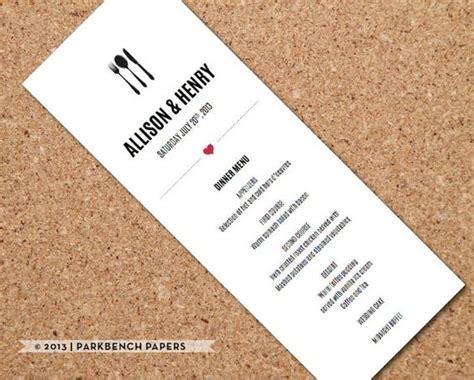 wedding menu template printable wedding dinner menu