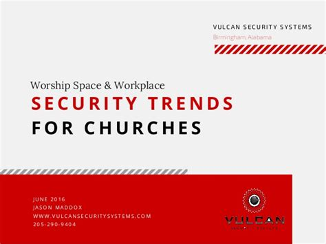 security trends for churches