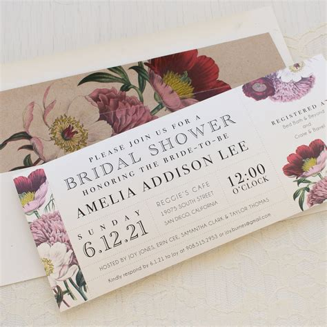 Floral Bridal by Floral Boho Customizable Bridal Shower Invites Beacon