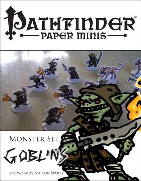printable heroes goblins paizo com pathfinder paper minis monster set 2 goblins pdf