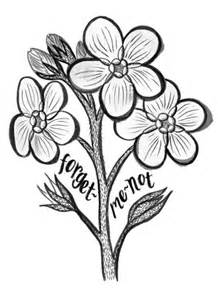 Forget Me Not Flower Drawing A Sprig sketch template