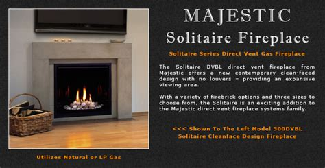 majestic solitaire gas fireplace stove company wood