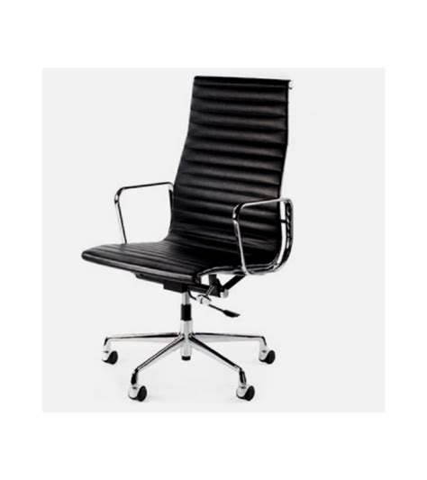 ribbed leather office chair adammayfield co high back ribbed eames ea119 style leather office chair onske
