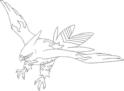 Pokemon Coloring Pages Talonflame | coloring pages pokemon talonflame drawings pokemon