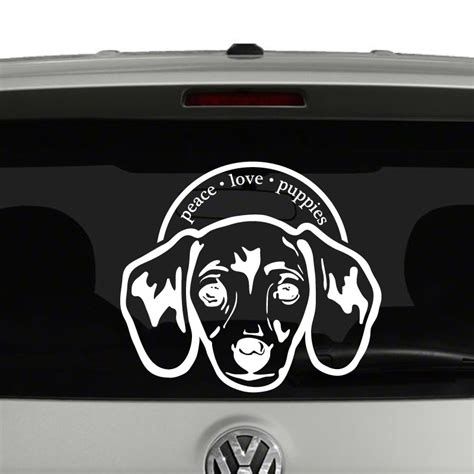 peace puppies peace puppies dachshund vinyl decal sticker