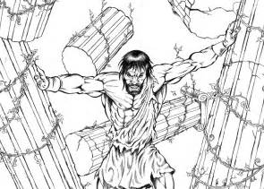samson coloring page samson by xagamus on deviantart