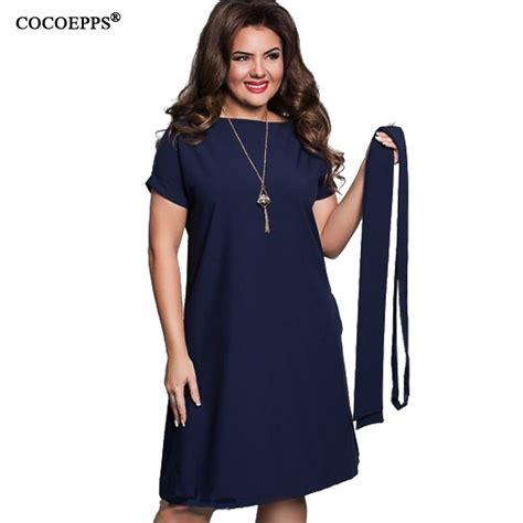 Big Size Blue cocoepps casual blue dresses big sizes new