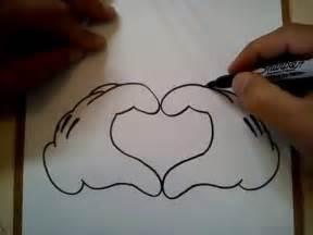 como dibujar corazon mickey mouse draw heart mickey mouse