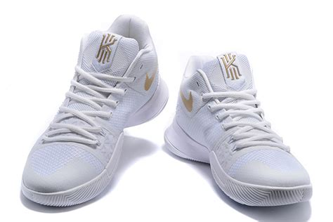 white and basketball shoes nike kyrie 3 white ice white gold men s basketball shoe