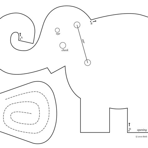 sewing pattern elephant best photos of elephant sewing pattern free free