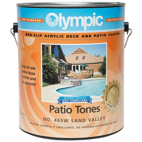 olympic patio tones deck coating  gallon sand valley