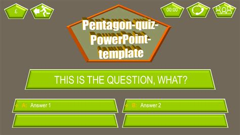 powerpoint templates for quizzes powerpoint quiz template pentagon ppt themes
