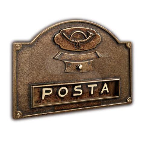 buca per lettere placca bucalettere in ottone con pulsante per canello