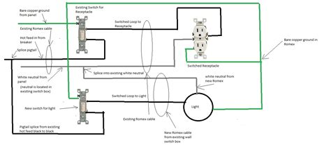 adding a light switch outlet wiring a second wiring diagram