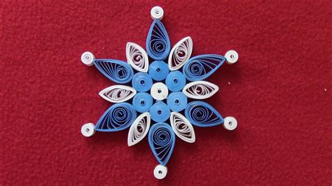quilling snowflakes tutorial quilling snowflakes tutorial 2 christmas ornament youtube