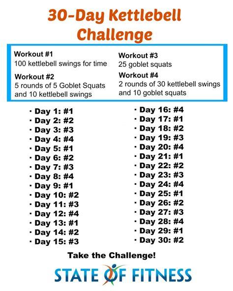 kettlebell swing workout program 30 day kettlebell challenge state of fitness