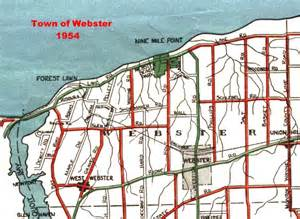 1954 map of webster