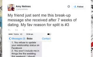 Ultimate Breakup Letter break up text message goes viral