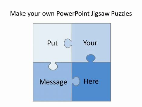 Free Editable Jigsaw Pieces Powerpoint Template Powerpoint Jigsaw Template Free