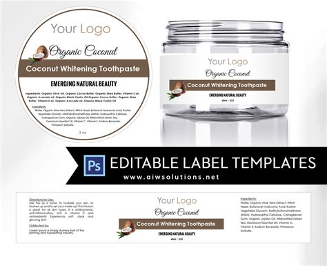 ingredient label template ingredient label template payment coupon template