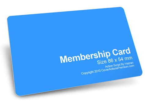 membership card template size member card mockup script cover actions premium