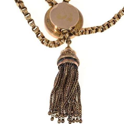 gold tassel engraved pendant necklace for sale at 1stdibs