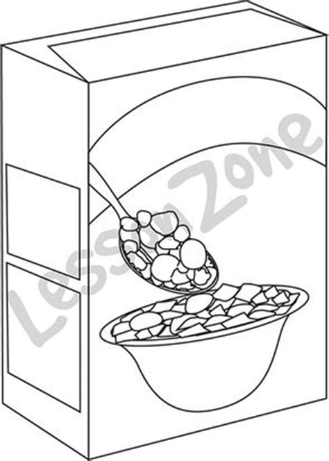B W Cereal by Blank Cereal Box Clipart Cereal Box B W Clipart Kyetqd